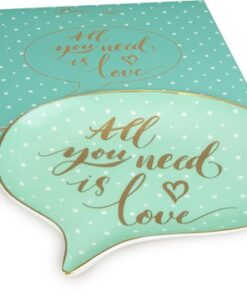 BoxinBag Shine Chat Plate ALL YOU NEED IS LOVE-