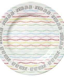 Rice Melamine Cake Platter in Happy Birthday Print-Servering - Fat